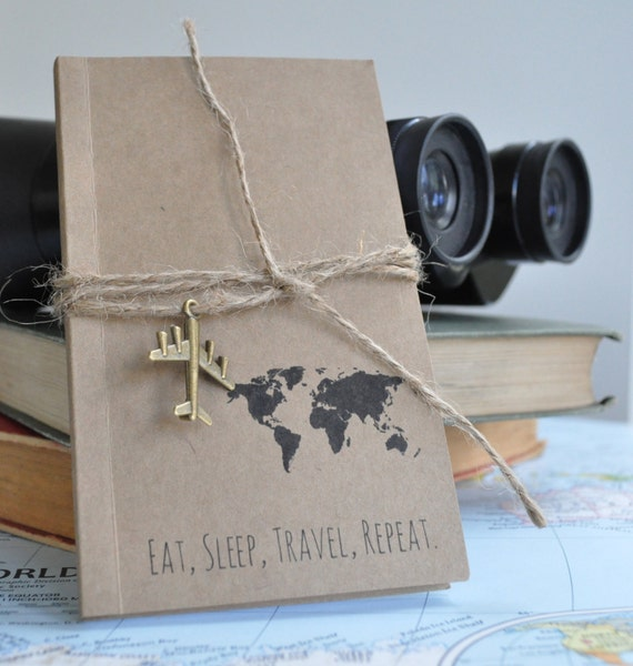 Travel themed notebook