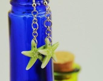 Green Starfish Earrings (E0015)