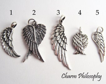Angel Wings Pendant - 925 Sterling Silver Jewelry - Create a Custom Necklace