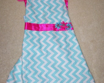 Aqua Chevron Dress