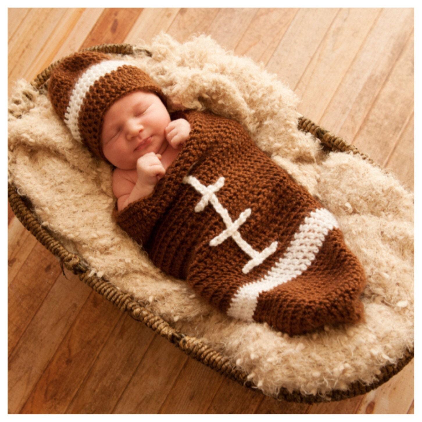 Baby Football Cocoon Pattern Newborn