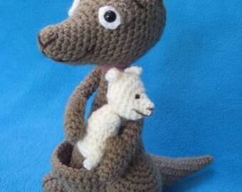 Baby Kangaroo Knitting Pattern : knitting kangaroo   Etsy