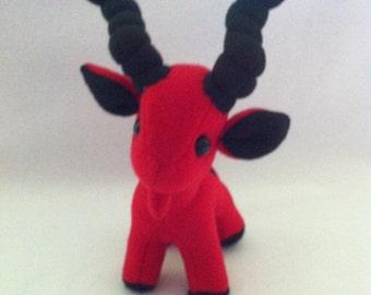 Goat Plushie Plush Toy Blackheart MLG (My Little Goatie)