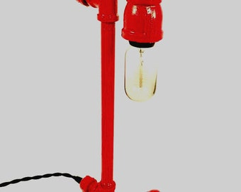 Hydrant Metal Pipe Desk Lamp