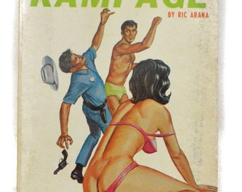 Vintage 60s Passion Rampage by Ric Arana Candid Reader Pulp Thriller Paperback Novel Book