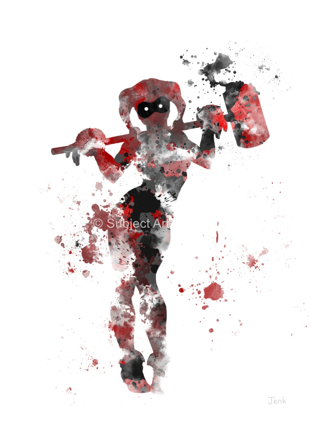 Harley Quinn ART PRINT illustration Superhero Super by ...