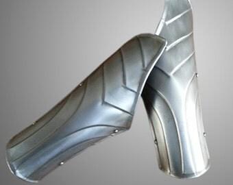 Steel Brasers - Medieval Knight Armor - Larp Gothic Steel Armor Bracers  - Pair