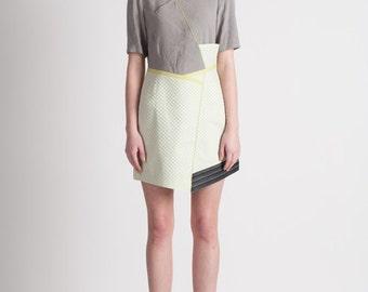 30% Season Off_Feldblume A-structural Mini Dress_Yellow-green