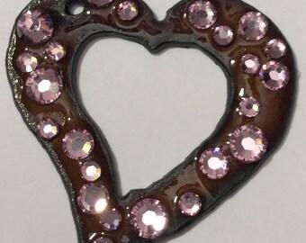 Rustic Romantic Heart Pendant