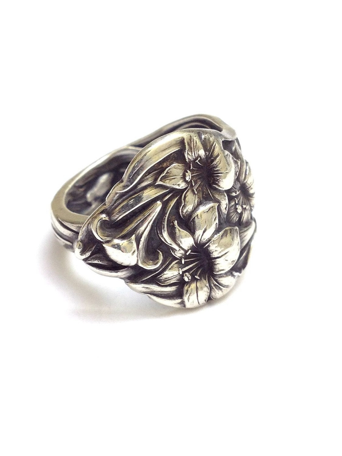 antique sterling silver spoon ring circa 1902 by cypressstudio