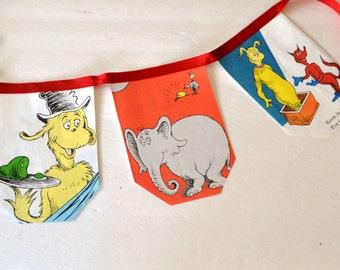 Dr. Seuss Birthday Banner -  Dr Seuss Birthday Party Decor - Dr. Seuss Baby Shower Banner  - Dr. Seuss Banner