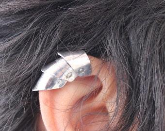 Armor Ear Cuff, Armor Jewelry, Medieval, Dragon Scale Ear Cuff, Non Piercing, Upper Cartilage, Gothic, Steampunk, Cosplay, Elf Ear Cuff
