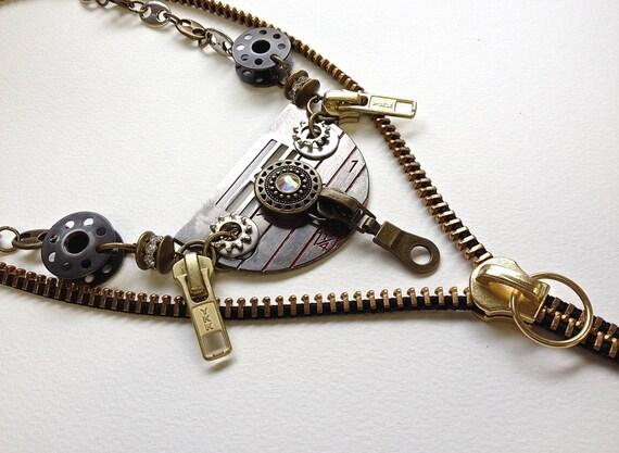 Seamstress Zipper Necklace