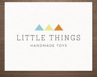 Premade Kids Toy Logo Design - Modern geometic logo -  Handmade boutique, Small Business, Photography
