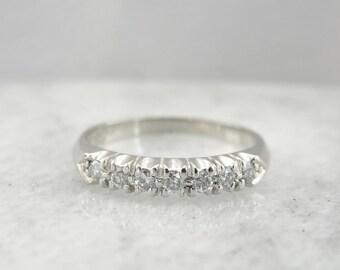 Retro Era Platinum And Diamond Wedding Band DH59ZF-R