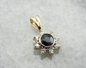 Sapphire, Diamond And Platinum Pendant  J12RAE-R