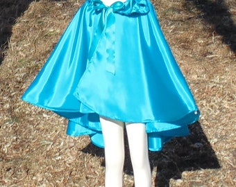child's Cerulean Graduated Child's half cape with hood