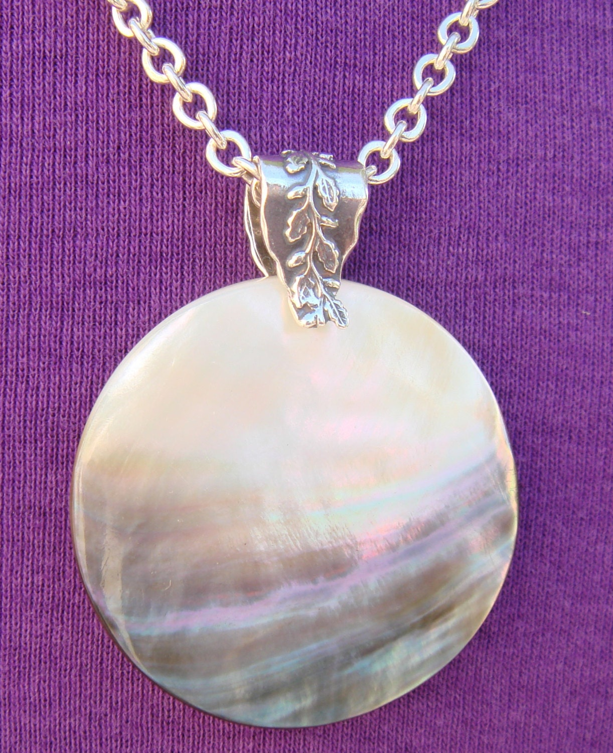 Mother of Pearl Pendant Necklace Mother of Pearl Pendant