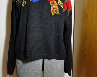 Ugly Tacky Christmas Sweater Large K5