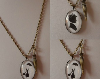 Mary Poppins Themed Pendant Necklace