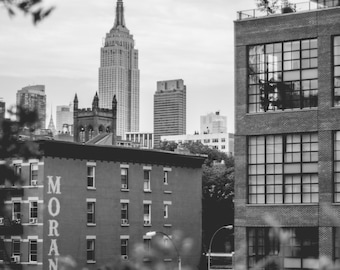 Empire State Building, New York City // Black and White Fine Art Photography // Photo Print