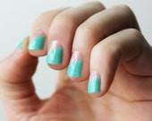 Mint Modern French Transparent Nail Wraps