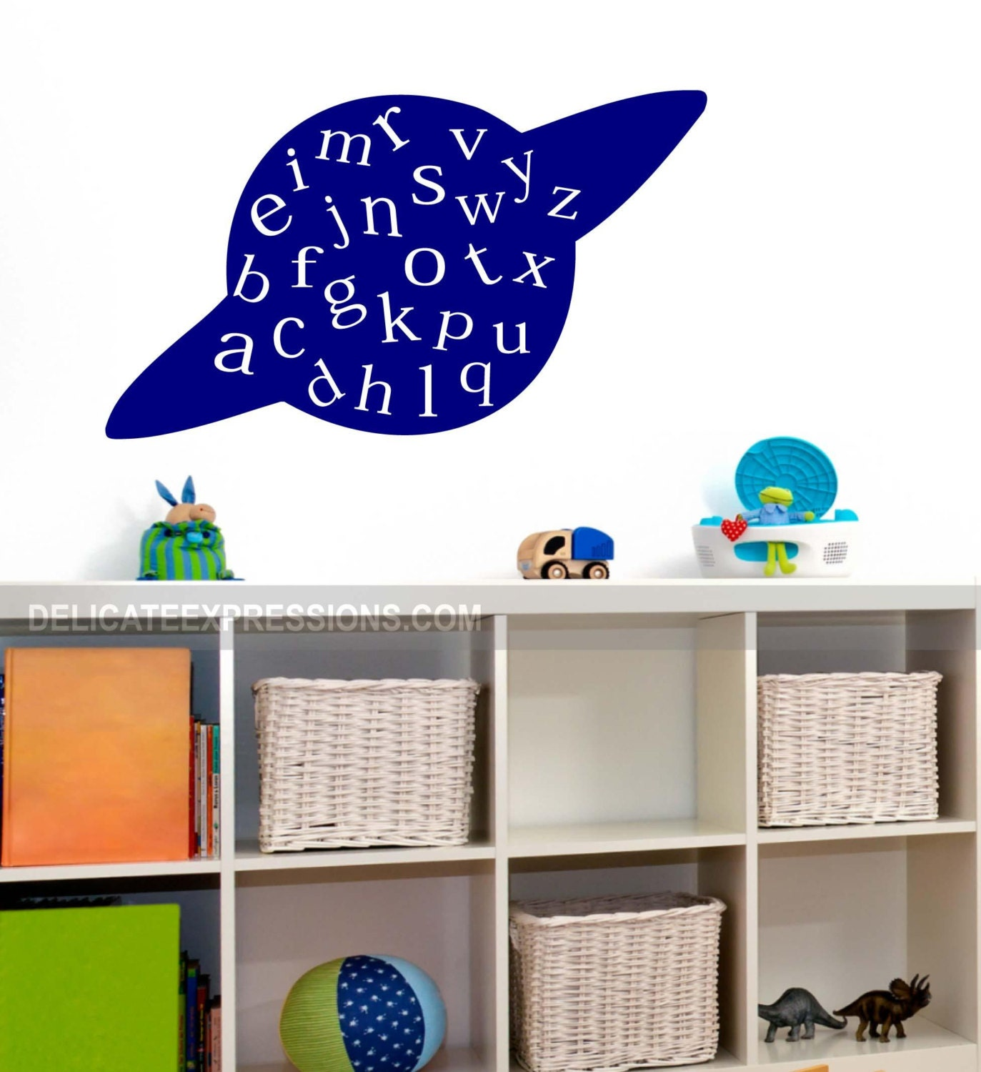 alphabet wall decal abc playroom wall decal space wall decal