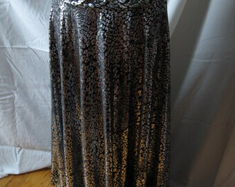 bellydance skirt, leopard bellydance skirt, leopard costume, black and silver bellydance, Free US Shipping