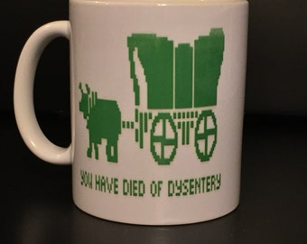 Retro Computer Game Coffee Mug - Funny coffee mug - oregon trail mug
