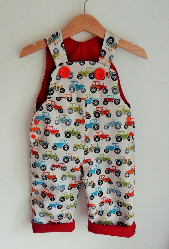 Items Similar To The Fun Tractor Dungaree Romper Overall