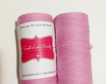 Full Spool Of Bubble Gum Pink Bakers Twine- 240 yards