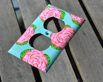 Hand Painted Lilly Pulitzer Inspired Outlet Cover: First Impression Outlet Cover