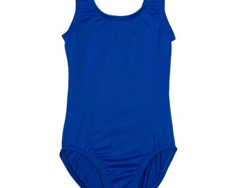 ROYAL BLUE Toddler & Girls Ballet - Gymnastics Sleeveless Tank Leotard