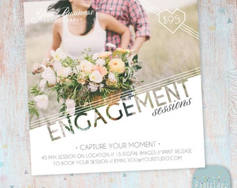 Engagement Marketing Board - Couples - Photoshop template - IV012 - INSTANT DOWNLOAD