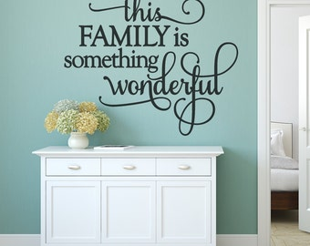 Unique Home Decor - Family Wall Decal - Home Decor - Inspirational Wall Art - Wall Decals, Vinyl Wall Decals,  Family, Wall Quotes