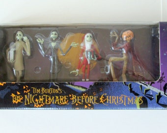 The Nightmare Before Christmas Jack Figurine Set of Four from JUN Planning Japan with Box