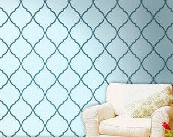 Reusable Moroccan, Wall Stencil Marrakech Trellis, Reusable stencils for DIY decor, Moroccan