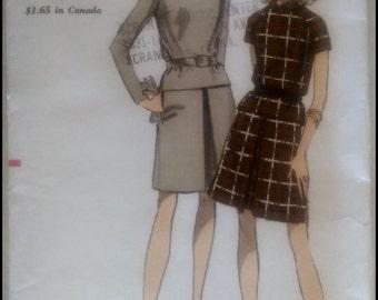 """Vogue 7182  Misses' Two Piece Dress  Bust 36"""""""