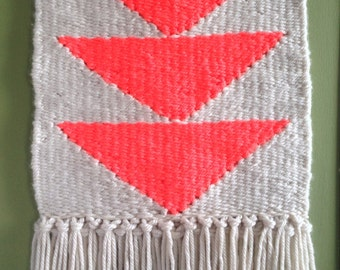 Neon Triangles Tapestry