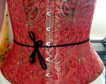 1880's version Victorian Corset, bustle and no bustle, steampunk, SASS
