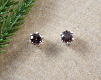 Color Change Sapphire Sterling Silver Earrings