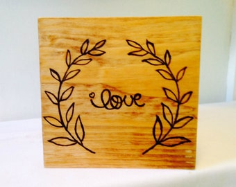 Rustic Wood Wedding Planter Box