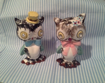 Norcrest Salt and Pepper Owl shakers- Perfect!!