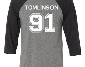 One Direction Louis Tomlinson 91 Baseball Style T-shirt