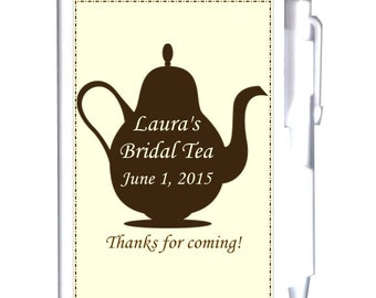 24 Teapot Bridal Shower Notebook Favors