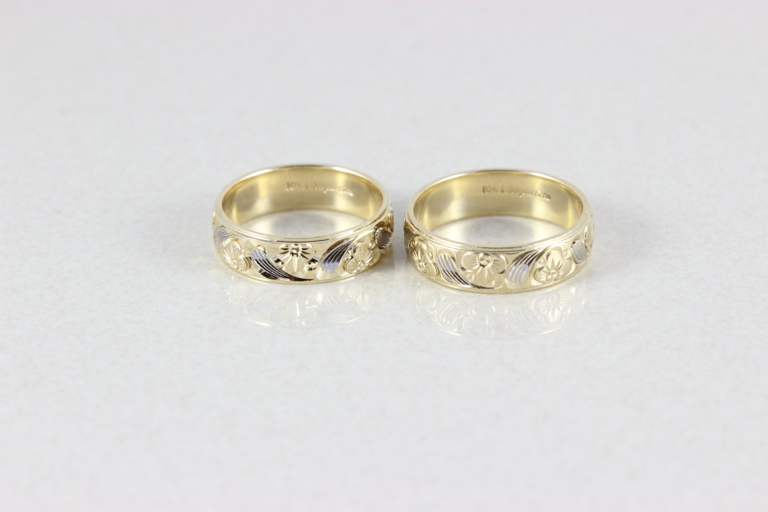 his and hers 10k yellow gold wedding band bands by