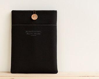 "iPad Pro case 12 inch Macbook 11 inch Macbook Air case, 11"" Surface Pro 4, Custom Laptop Netbook sleeve / Black"