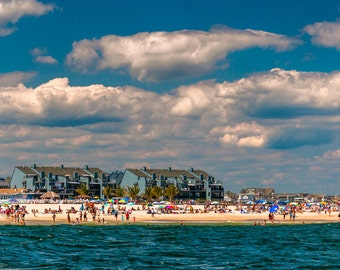 View of the beach in Point Pleasant Beach, New Jersey - Nature Photography Fine Art Print or Wrapped Canvas