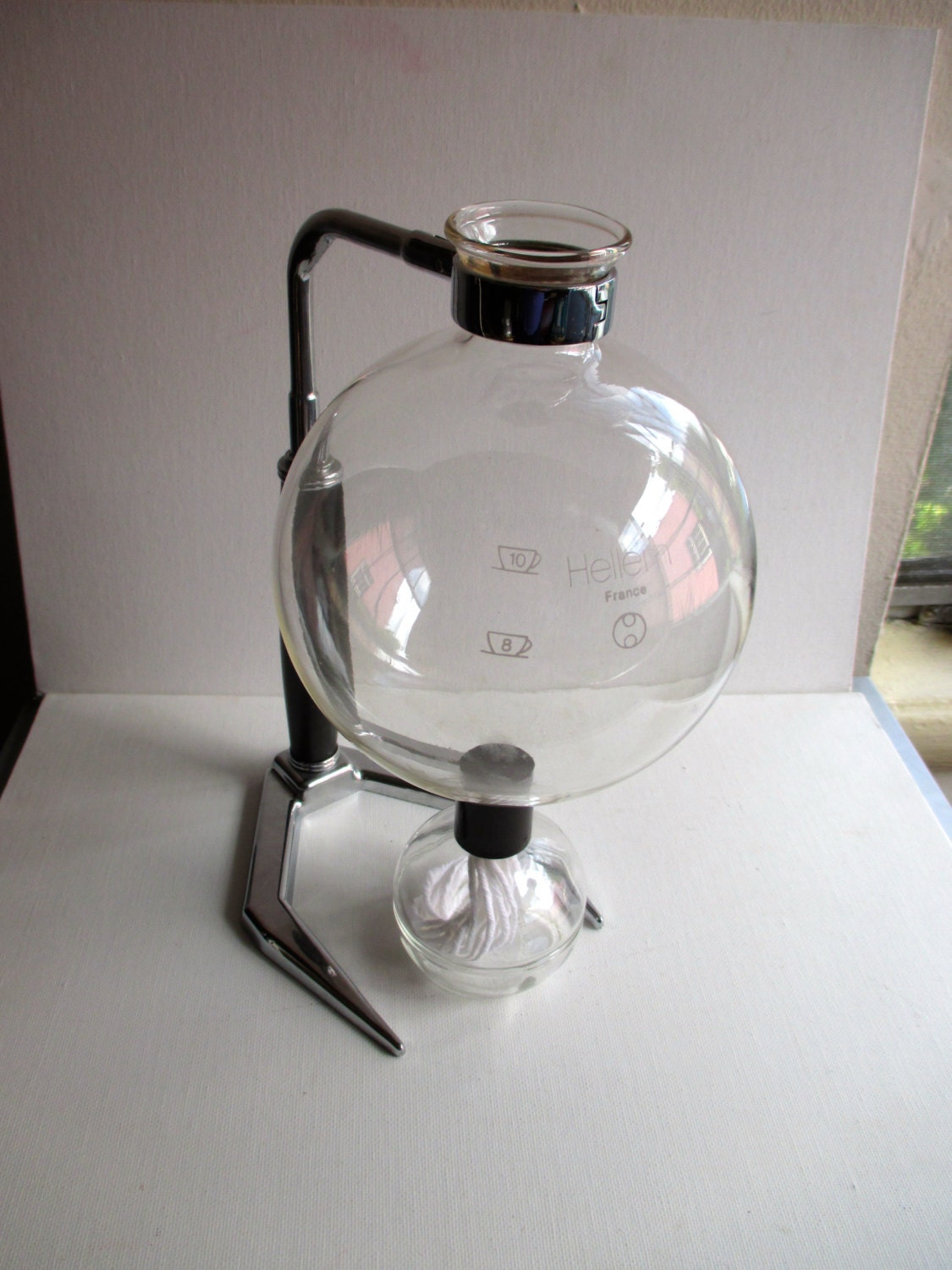 Coffee Maker Made In France : 1970s Hellem 10 Cup Suction Glass Coffee Maker France