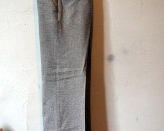RESERVED Vintage LEVI'S TRIMCUT Tan/Taupe Slub Linen Blend Flat Front Trousers Size 30x27